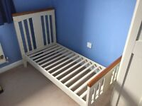 Bebecar Nursery Furniture including Cot Bed, 4 drawer chest of drawers and 1 1/2 wardrobe