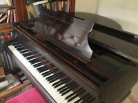 Baby grand piano John Broadwood & Sons