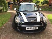 Mini Cooper s black 2009 automatic low mileage hpi clear!!