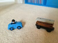 Thomas the Tank Engine wooden Sir Topham Hatt car and Henrietta Engine