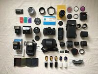 Praktica BC1 35mm Film SLR Camera - with 5 rolls & huge set of accessories
