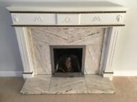 Marble Stone Fireplace Mantlepiece.