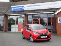 TOYOTA AYGO 1.0 VVT-I X 5dr * Lovely Example + ZERO Road Tax * (red) 2015