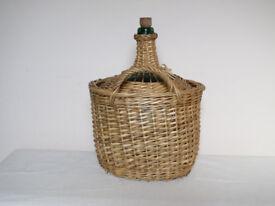 Vintage French Wicker 5ltr Glass Demi-John