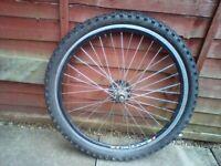 Rear wheel mountain bike 26 inch wheel USED