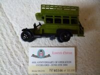 Limited Edition Diecast 60th Anniversary Operation Overlord Thorncroft Open Top Bus