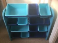 Next kids storage boxes. 12 single boxes within wooden frame