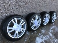 Mercedes C 220 wheels with Michelin 225/ 45 R17 tyres.