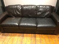 Sofa workshop brown leather sofa