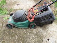 Qualcast quadtrak 30 electric mower with grass collector lawnmower