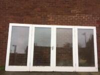 Bifolding hardwood double glazed Doors