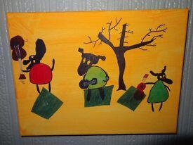 Original paintings Quirky sheep art