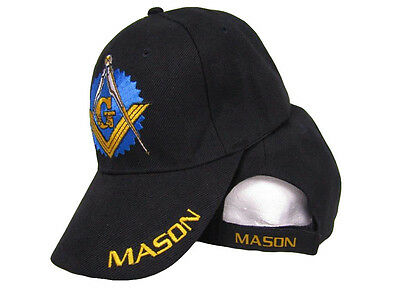 Black Mason Freemason Mason Lodge Blue Shadow Premium Quality Hat Ball Cap  Ruf