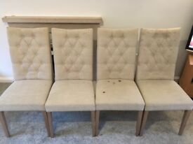 4 Dining Room Chairs - Marks & Spencer Greenwich Padded Chairs