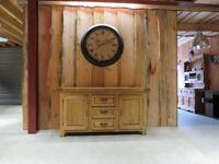 Heavy Rustic Oak Sideboard