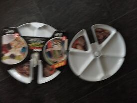 SET OF 2 BBQ BUDDY DISHES - BRAND NEW
