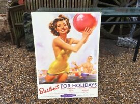 Butlins Metal Sign
