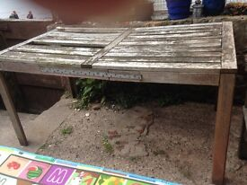 Garden table free! Collection only
