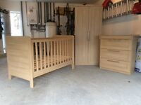 ***SOLD*** Mama's & Papa's Cot Bed, Wardrobe and Chest of Drawers