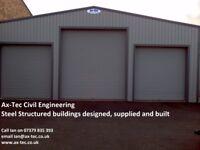 Industrial Commercial Unit Steel Framed Building MOT Station Garage