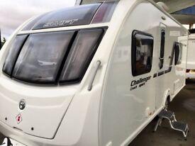 2014 Swift Challenger Sport 564 (Fixed Single Beds, Full End Washroom), Free new air awning + matt