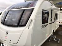 2014 Swift Challenger Sport 564 (Fixed Single Beds, Full End Washroom), Free new air awning + matt