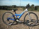 "Boys Giant MTX 250 Mountain Bike - 12"" Aluminium Frame - 18 Gears - 24"" Wheels - Stand"