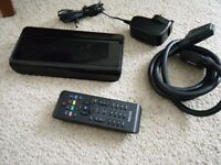 Philips DVB Freeview box + remote control - works perfectly
