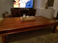 Hardwood Coffee Table & Side Table for Sale