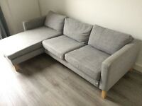 IKEA KARLSTAD Isunda grey sofa and chaise