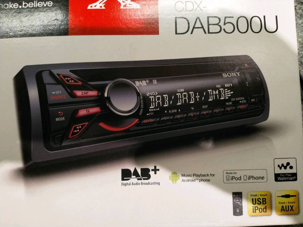 SOLD Sony DAB 500U car stereo/radio