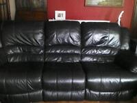 DFS. leather sofa