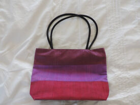Ladies Pink 100% Silk Handbag