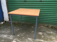Metal - wood square table