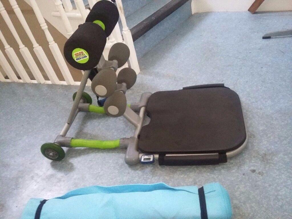 Total Core abdominal exercise stomach machine plus free Yoga mat
