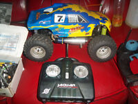 thunder tiger 4 wheel drive 1/10 scale monster truck nitro powered with extras