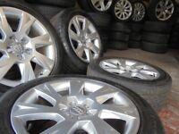 17inch GENUINE LINE audi A4 A5 b8 ronal 5x112 alloys wheels vw golf mk5 caddy a3 t4 t3