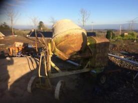 Cement mixer big barrel
