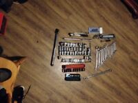 tool joblot 105 items spanners sockets wrench ect