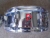 Premier Vintage Steel Chrome Snare Drum