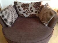 Swivel chair and sofa