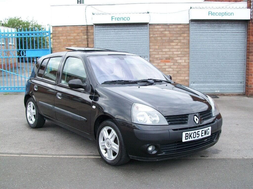 renault clio 1 1 5 door 2005 60k 2 owners from new sunroof service history 12 months mot in. Black Bedroom Furniture Sets. Home Design Ideas
