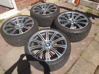 4 Genuine BMW 220M M3 Forged Alloy Wheels, Diamond Cut, 19