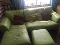 3 seat sofa for sale includes leg rest