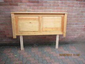 Pine wooden headboard