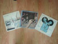 3 x the chameleons vinyl LP's - script of the bridge / strange times / what does anything mean