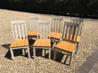 6 M&S wooden dining chairs