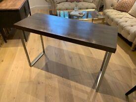 Wayfair Desk - Dark wood veneer and mental legs