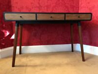 MADE Edelweiss Desk in Walnut and Black RRP £329