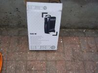500 watt new electric heater ideal for use on campsite